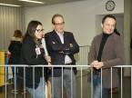 Des visages satisfaits à l'UPSA : Arjeta Berisha, le président central Urs Wernli et Thomas Jäggi, responsable de la formation initiale et de la formation professionnelle supérieure.